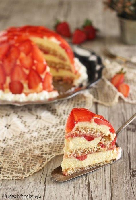 Torta di fragole rovesciata, ricetta passo passo