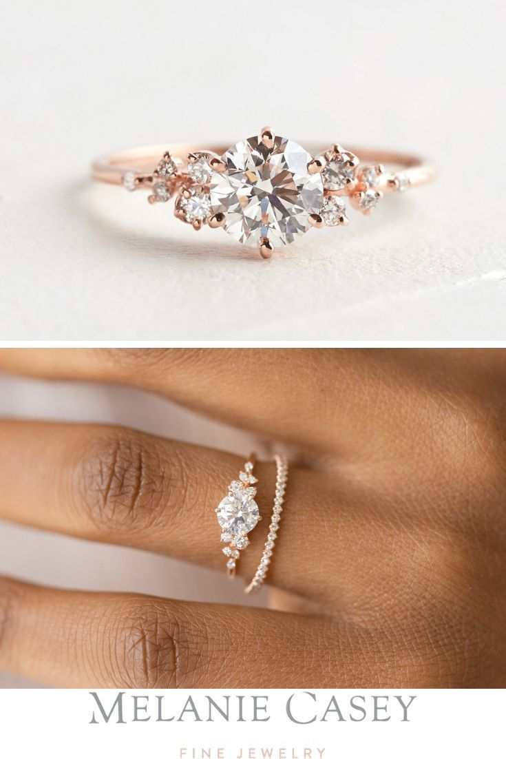 Diamond Snowdrift Ring Made To Order In 2020 With Images Diamond Wedding Bands Unique Engagement Rings Diamond Wedding Rings