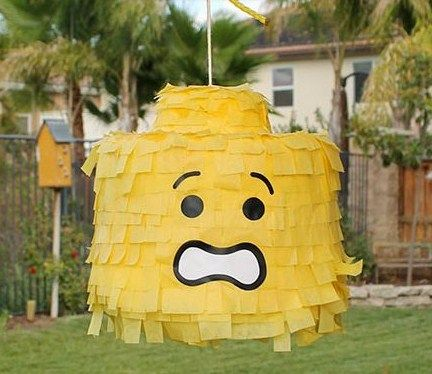 Lego scared face pinata