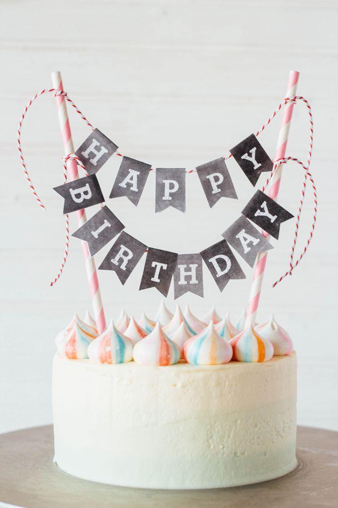 pink velvet cake with rainbow meringues & mascarpone frosting