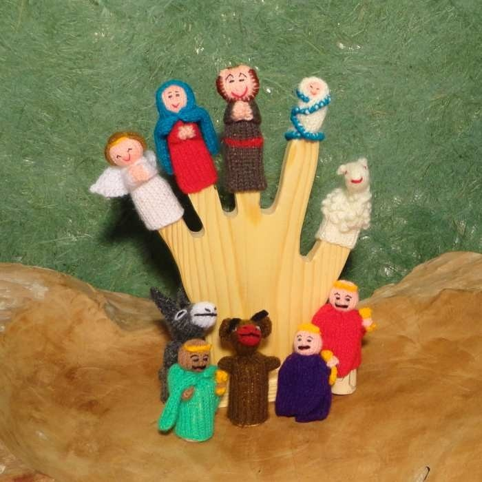Knitted Finger Dolls Christmas Story From Peru From Fair