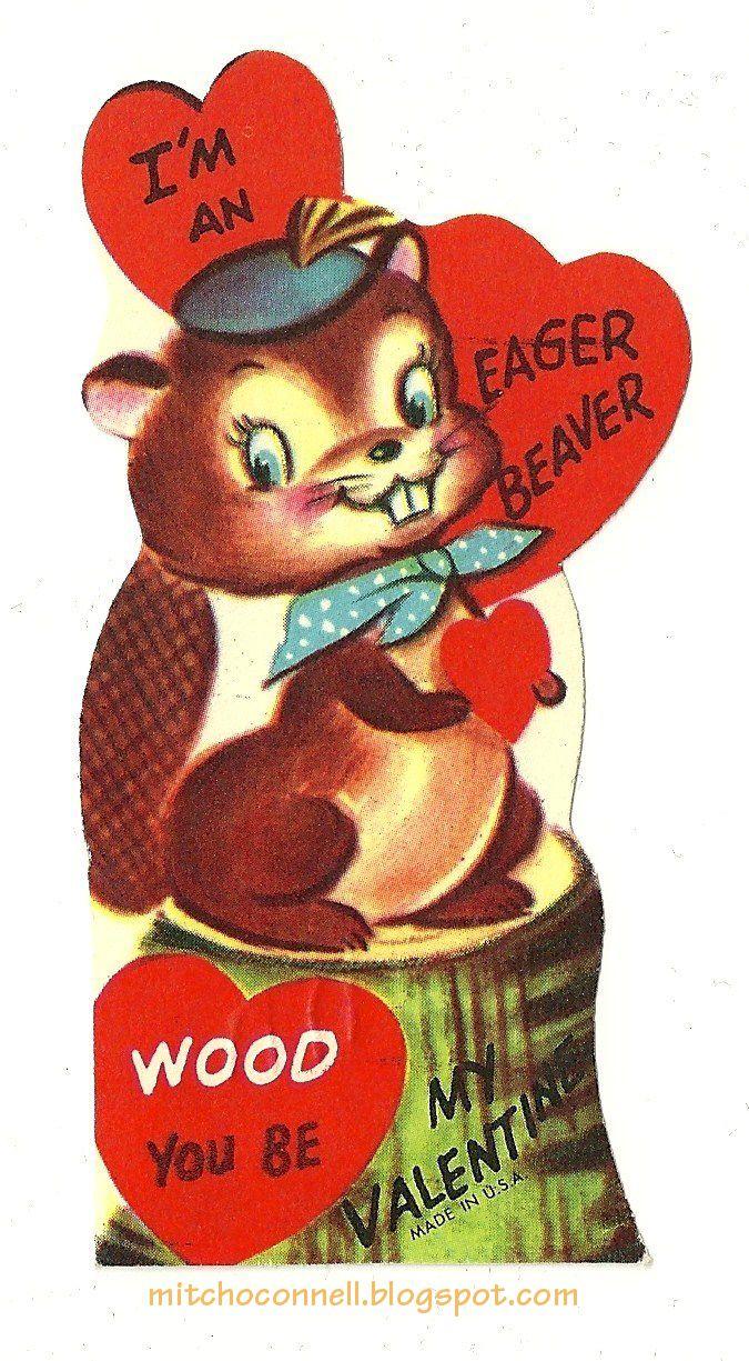 Best 33 Vintage valentine: Cards - Skunks, Beavers & Raccoons ideas