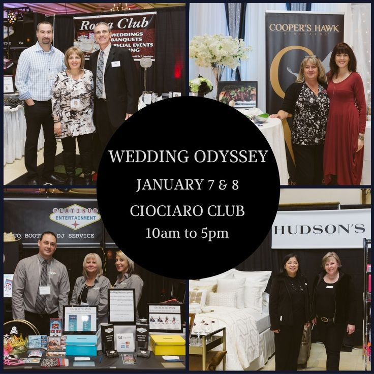 The Wedding Odyssey bridal expo taking place January 7 & 8, 2016 at Ciociaro Club..... Windsor, Tecumseh Ontario......come on out to see local wedding experts all under one roof #WindsorWeddingShow
