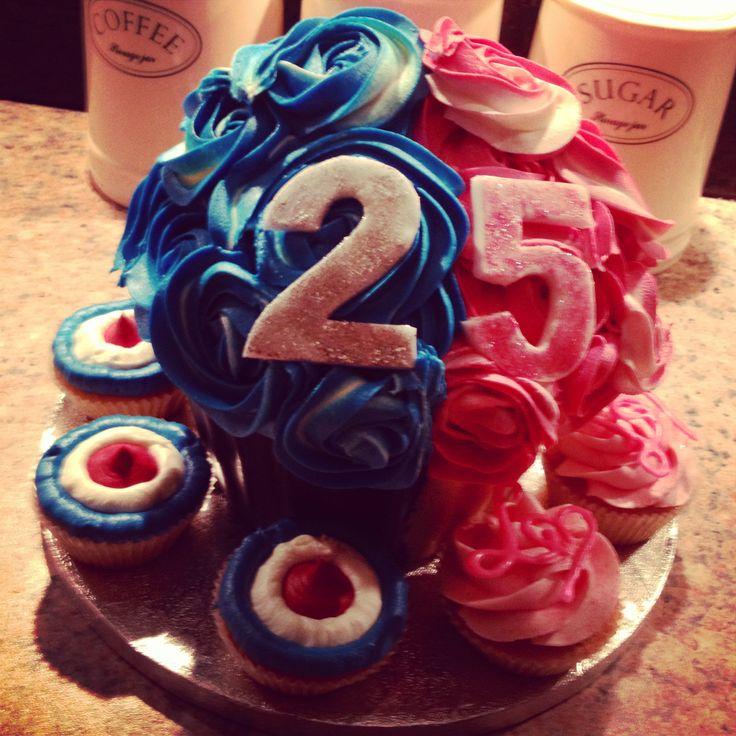 Twins Giant Birthday Cupcake