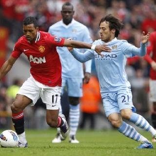 Manchester City Vs. Manchester United.  David Silva Vs. Luis Nani.