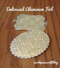 Embossing Aluminum Foil with a Cuttlebug embossing machine tutorial.