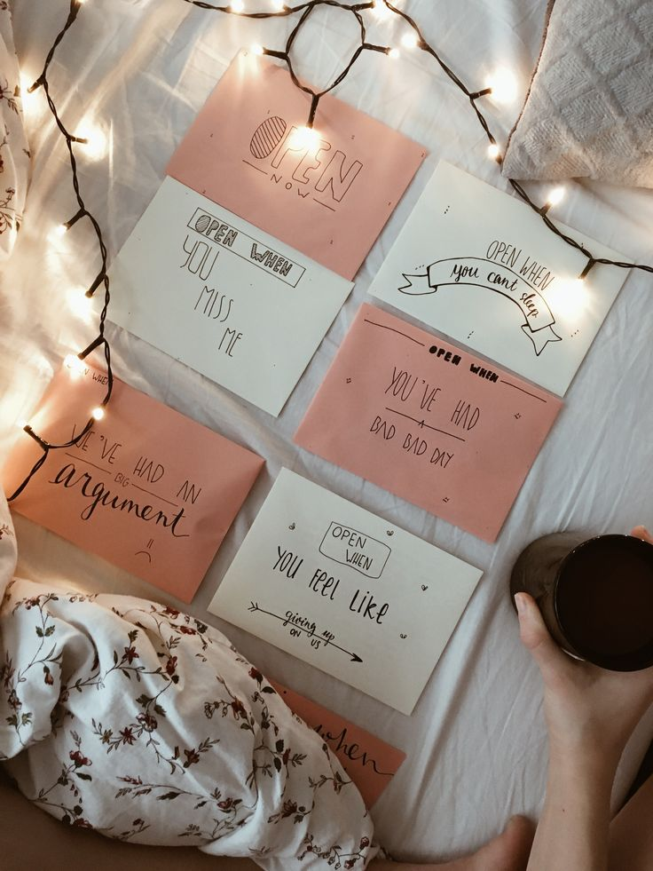 Open when letters for boyfriend || anniversary gift