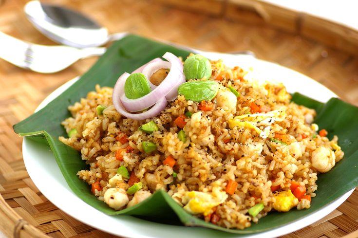 Black Pepper Petai Fried Rice - Kuali