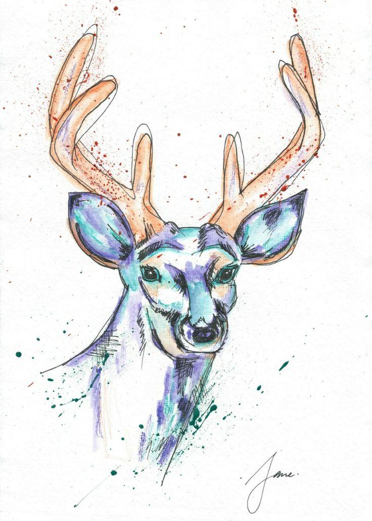 Deer By Jane Burton