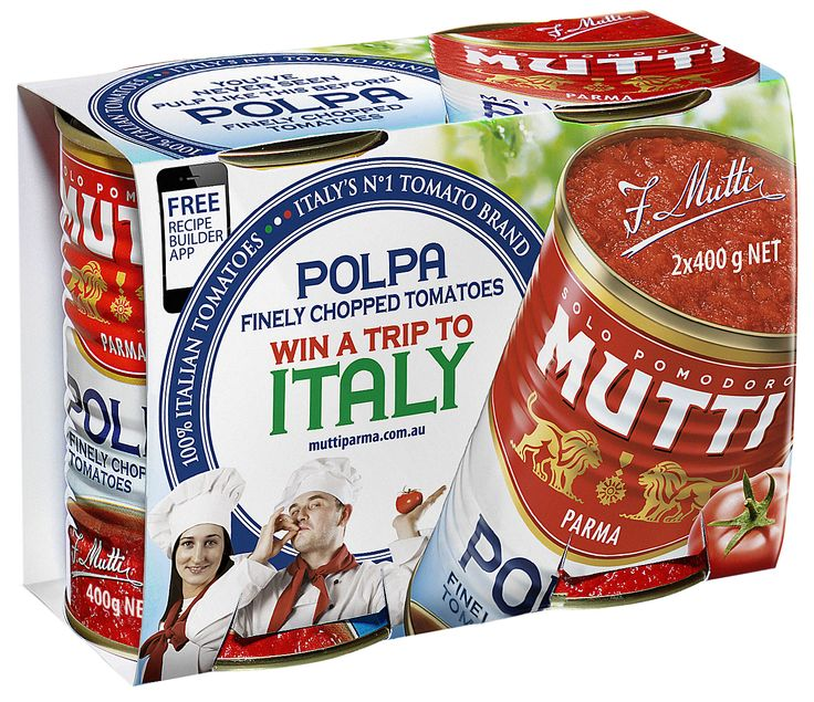 Our finely chopped tomatoes enter the production lines the very same day of harvesting, ensuring all the freshness is maintained. www.muttiparma.com.au/products