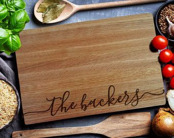 Custom Cutting Board, personalized cutting Board,Wedding Monogram,  kitchen sign (158)