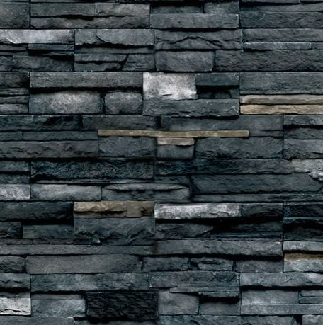 Pro Fit Alpine Ledgestone Black Rundle Cultured Stone