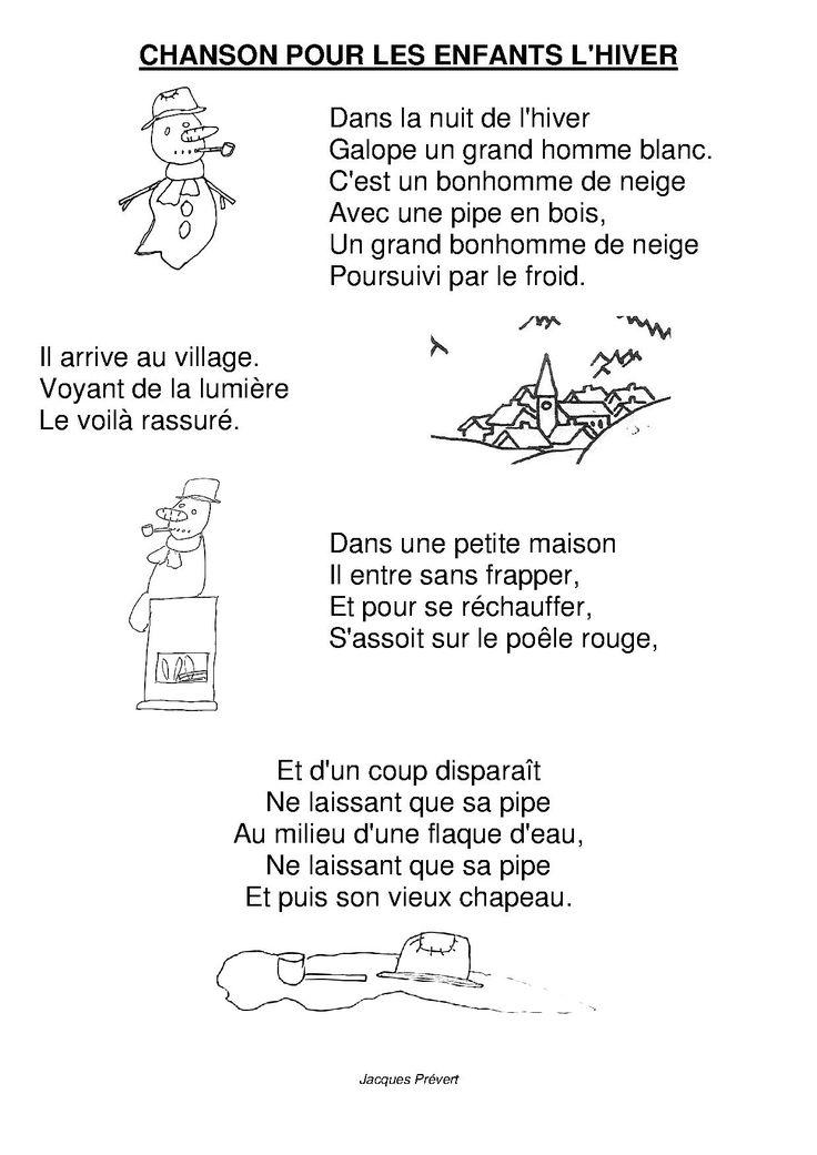 Chanson pour les enfants l 39 hiver comptines et chansons for Par la fenetre ouverte comptine