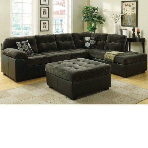 Cool 50530 Layce Dark Green Morgan Fabric Sectional Sofa Set Uwap Interior Chair Design Uwaporg