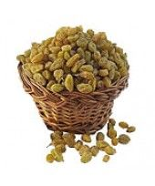You can make your day by order Raisins 1 Kg arranged in a mini basket, these raisins are a high energy and tasty snack.