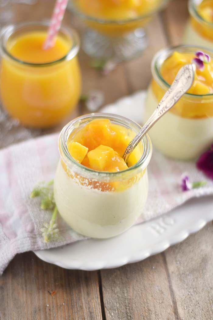 Joghurt Panna Cotta mit Lieblingssaft und Mango Salat - Yogurt Panna Cotta with Mango Salad (2)