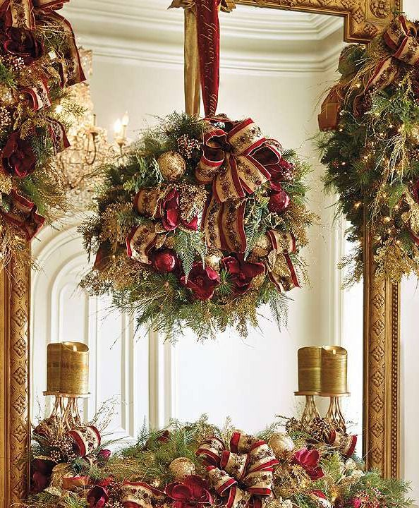 Deck the halls this holiday season with the Plaza Pre-decorated Greenery Collection that boasts  rich colors and voluminous lifelike greenery.