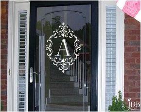 PERSONALIZED Monogram Glass Storm Door Decal - Door Decal by JaykasDecalBoutique on Etsy https://www.etsy.com/listing/279218246/personalized-monogram-glass-storm-door