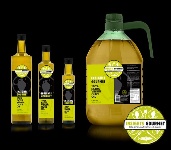 My logo and packaging for Insights Gourmet Olive Oil