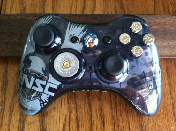 Xbox Halo 4 controller 9mm bullet button 12 guage shotgun shell dpad Video Game gun video games black ops call of duty gears of war