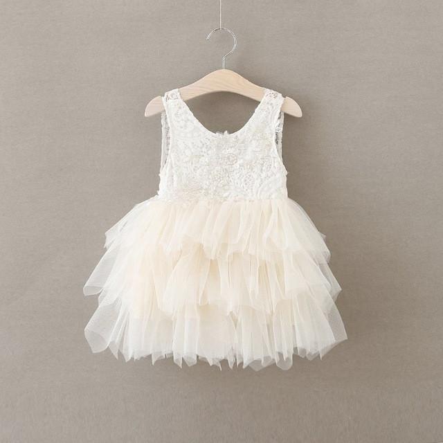 Retail 2017 Girl summer lace princess tutu dress   Furrple