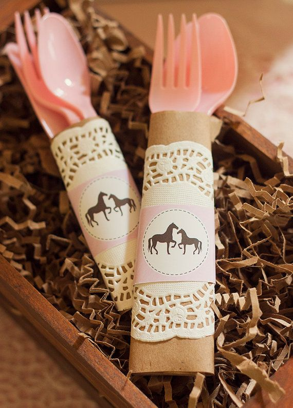 Pink Vintage PONY / HORSE Baby Shower by PartySprinklesStore