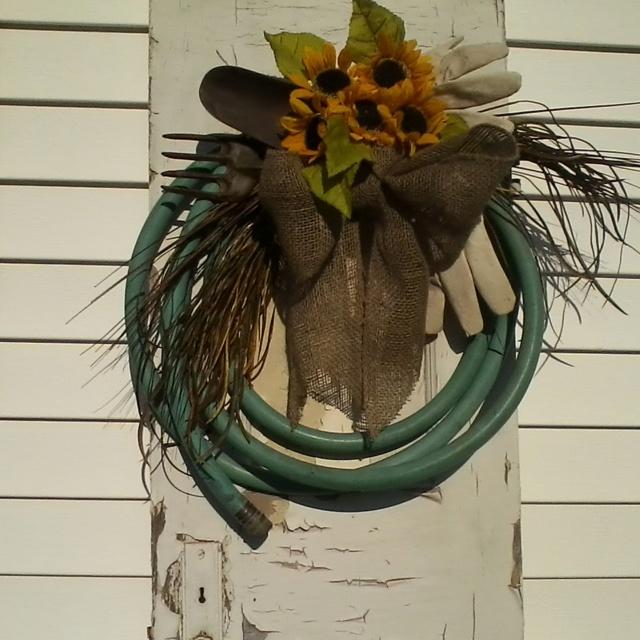 Old hose wreath.