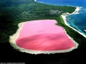Lake Hillier: The Pink Lake in Australia. thats my favorite shade of pink!