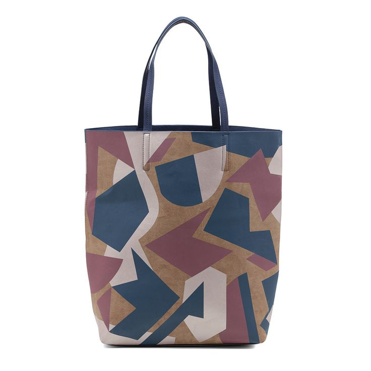 Sashenka by Olga Berg - Sashenka 'Harper' Cut It Out Shopper Tote - Sa8190 (Indigo Handbag)