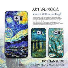 Van Gogh Schilderij Telefoon Case Voor Samsung Galaxy s8 plus s7 s6 edge s5 s4 s3 Opmerking 5 Case Sterrennacht Zonnebloem Geschilderd Zachte Case(China (Mainland))
