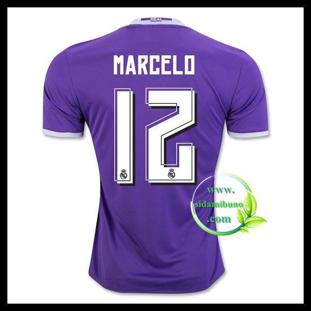 Fotballdrakter FC Real Madrid MARCELO #12 Bortedraktsett 2016-2017