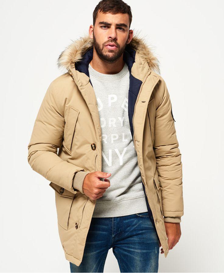 Superdry Manteau bordé de fausse fourrure Everest pour homme