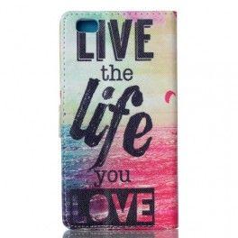Huawei P8 Lite live life puhelinlompakko.