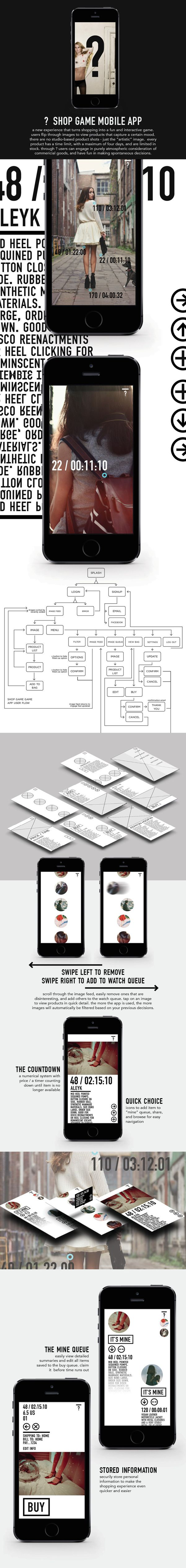 shop game mobile app by Natasha Alia, via Behance