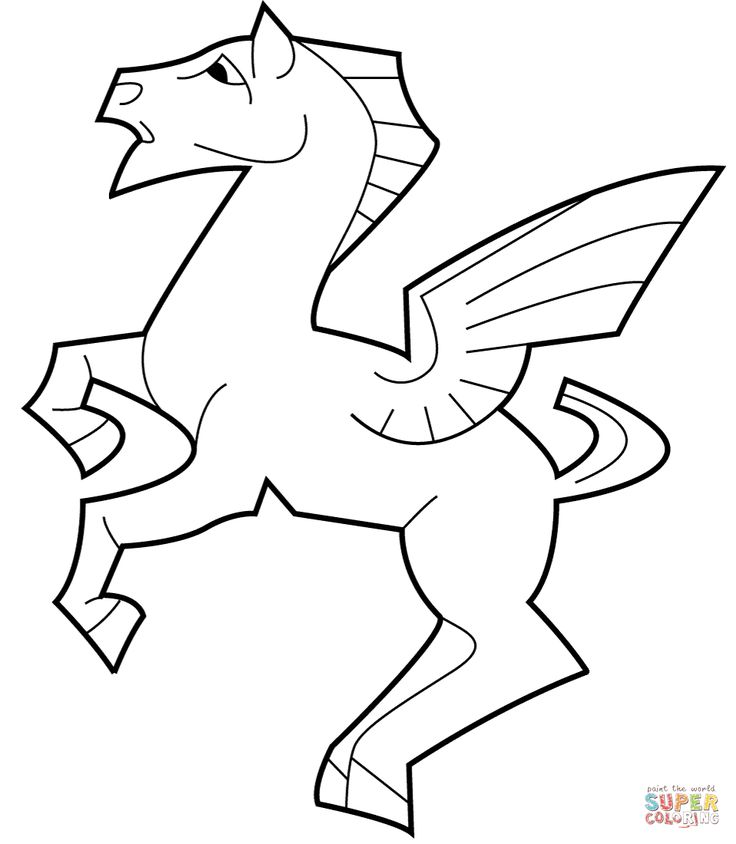 Horse tessellation template images for Escher coloring pages