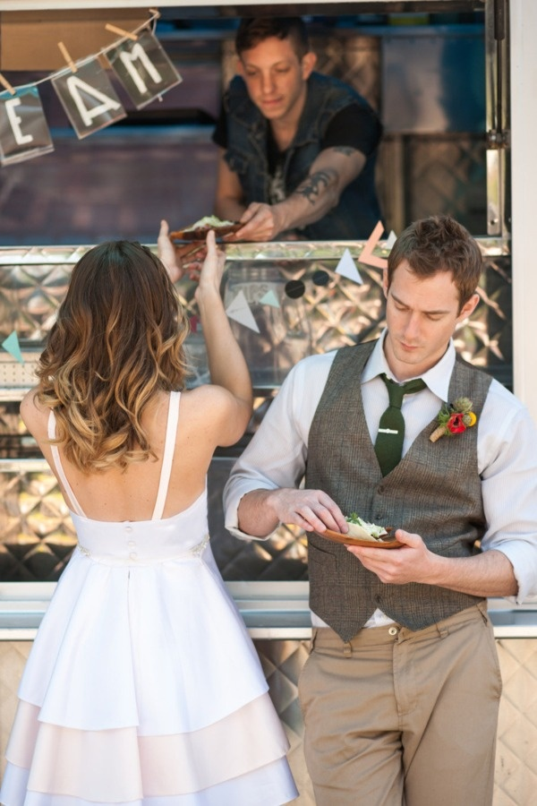 Food truck wedding :) #lancomebride by Style me Pretty  Obsessed with this cute fun wedding.
