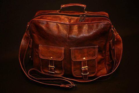 Hand Made Leather Classic Four Pockets Product. Rugged and durable for years of use!