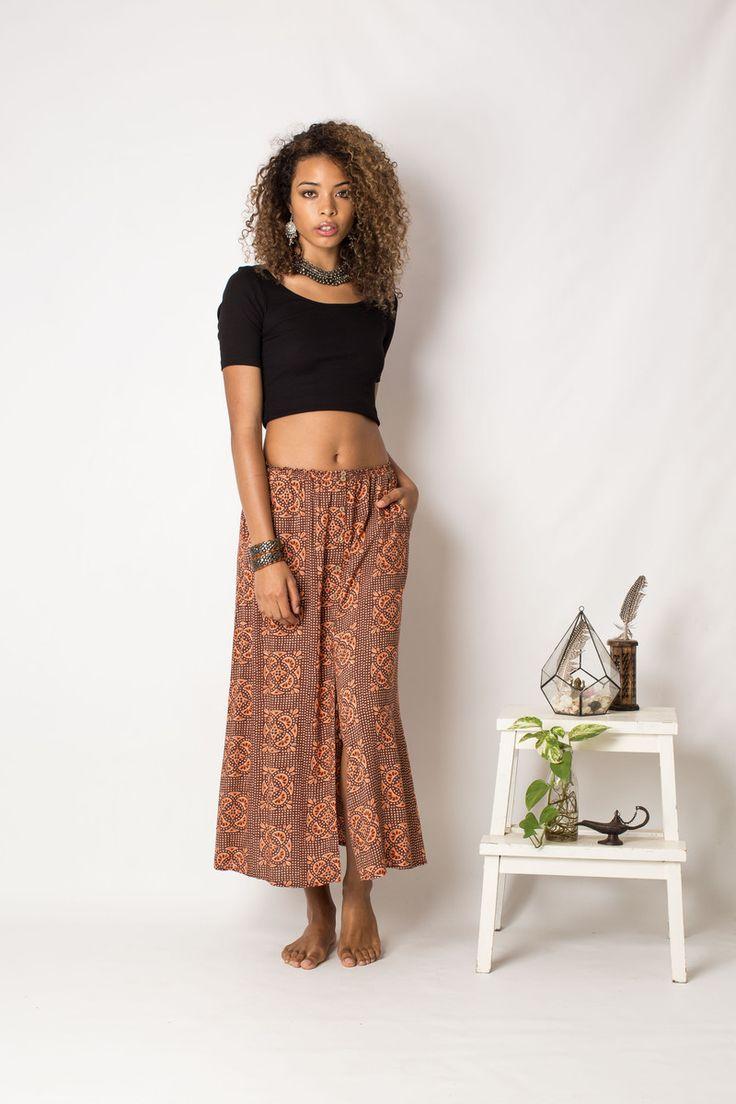 Button Thru Skirt