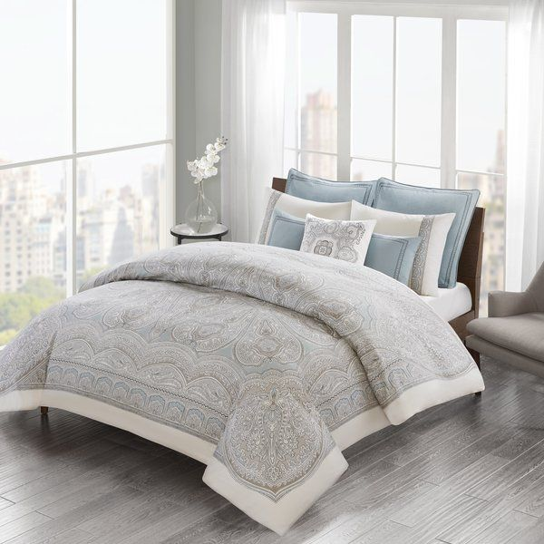 The Larissa 100 Cotton Duvet Set Will Refresh Your Bedroom With Elegance A Global Inspired Medallion Comforter Sets 100 Cotton Duvet Covers Duvet Cover Sets