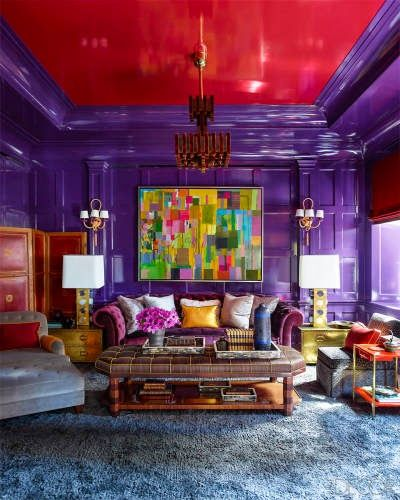 Beautiful Colorful Living Rooms: 25+ Best Ideas About Red Painted Walls On Pinterest