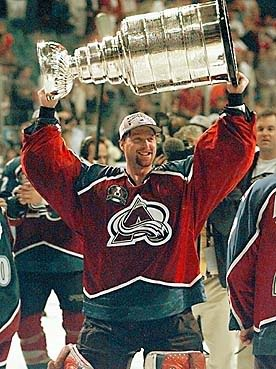 Patrick Roy; the goalie I loved to hate... But he was just too cool to hate forever