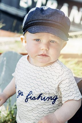 EM T-shirt Let´s Go Fishing Ecru Wave - emma och malena