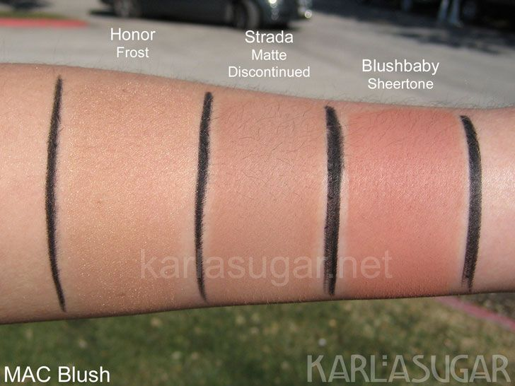 MAC Blush Swatches: Honor, Strada, Blushbaby | * Colors ...
