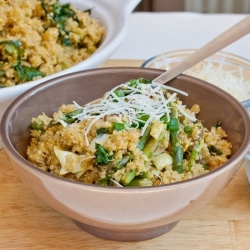 Quinoa with Artichokes - This quinoa with artichoke hearts, walnuts, and kale is delicious! Vegan and gluten free!: Olives Oil, Artichokes, Kale Recipes, Fast Recipes, Walnut, Asparagus, Quinoa, Gluten Free, Healthy Recipes