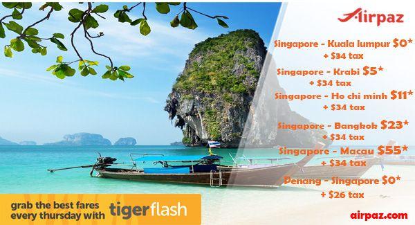 FREE SEATS Jetstar and Tiger Singapore !  Book Now: http://blog.airpaz.com/en/promo-tiger-air-start-0-00-airpaz/