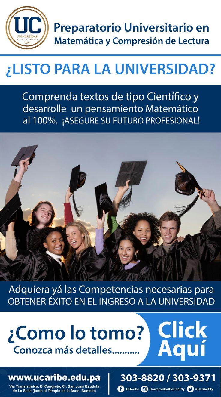 Universidad del caribe. preparatorio en Matemática y Comprensión de Lectura.