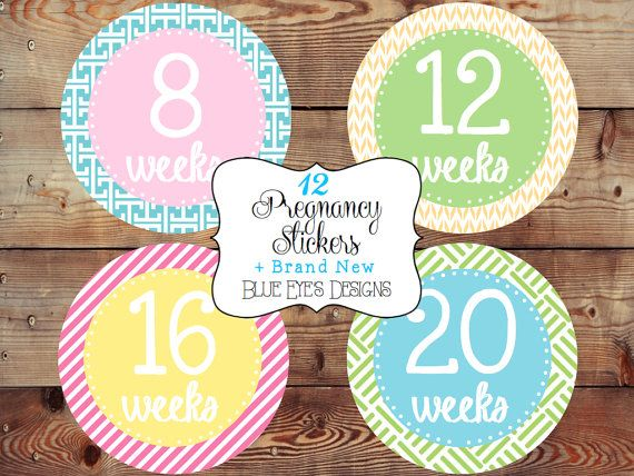 Baby Bump StickersPregnancy Tracking by blueeyesdesigns27 on Etsy, $12.50