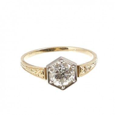 Pierścionek, Nr. 74/WB złoto, diament - Desa Biżuteria