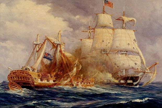 USS Constitution vs Guerriere on August 19, 1812 - How USS Constitution Became 'Old Ironsides' 200 Years Ago - history.com