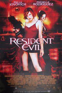 """`Resident Evil"" 2002 DVD Promotional Poster Unused 39.5``x27``"